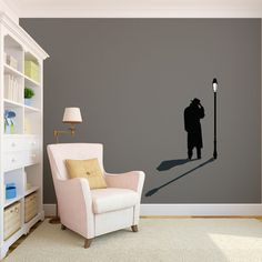 Vinyl Wall Decals, Wall Stickers, Mirror Decal, Unique Faces, Street Lamp, People Art, Vinyl Designs, Decorating Your Home, Creative