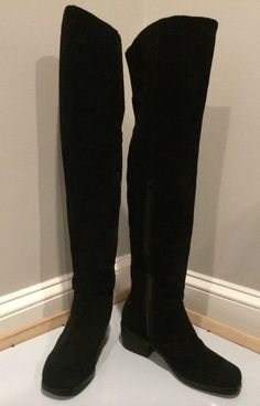 Women's UO Ecote Black Suede Over the Knee Boots, Size 7, NWOB! Starting bid $55.99 #UrbanOutfittersEcote #FashionOvertheKnee