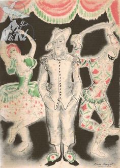 Dame Laura Knight A clown and two performers 1938