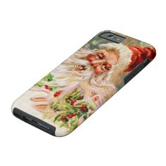 Vintage Christmas Santa Claus Art Tough iPhone 6 Case #christmas #santa #claus #retro #vintage #ToughiPhone6Case. International shipping. #phonecases #iphonecases Designer Cell Phone Cases, Girl Phone Cases, Iphone Phone Cases, Phone Covers, Iphone 11, Apple Smartphone, Personalized Phone Cases, Art Case, Vintage Christmas