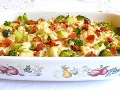 SPLENDID LOW-CARBING BY JENNIFER ELOFF: MONTEREY BROCCOLI CAULIFLOWER CASSEROLE - Company fare!  Very nice. Visit us for more recipes at: https://www.facebook.com/LowCarbingAmongFriends AND https://www.facebook.com/LowCarbHitParade