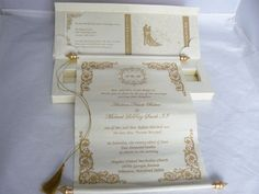 Scroll Invitation in the box Offwhite with by ColorPrintOutlet