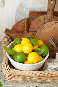 I love a bowl of lemons in the kitchen as much as I do flowers.