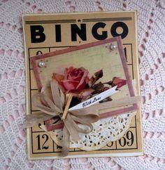 BINGO card made into a Valentine