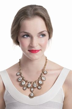 Antique Cascading Crystal Necklace from RentTheRunway.com, $50