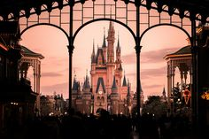 Disney World ~ A zoomed in view of Cinderella's Castle from Main Street Station.
