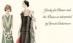 1920s Jean Patou and Chanel dress patterns 1926 McCall Quarterly