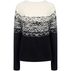 Paul & Joe Sister - Plutarque sweater found on Polyvore featuring tops, sweaters, ifchic, black chunky knit sweater, black jumper, black top, black sweater and paul & joe sister
