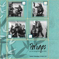 Crafty Colonel Donna Nuce, Club Scrap Transformations Digital Kit, Digital Scrapbook Page