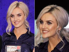 Perrie Edwards's Low Ponytail If you're planning on dancing at your next party, you need a style that won't get in the way of your sweet moves but still looks pretty! Curl your hair for tons of volume, then pull it back into a low ponytail, tilting your head back as you gather your strands to create that coveted bump at the crown. Pull out a few face-framing curls.