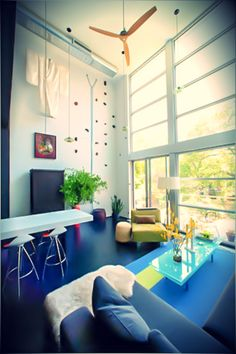 Featured in the New York Times, white window shades in a modern apartment. interior design ideas ~ home decor ~ custom ~ dream homes ~ New York City