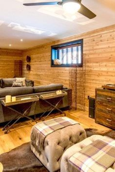 Having jacked our cottage off the ground (in association with a qualified house lifter) we elevated ceiling height before dividing the new basement space. Cedar Cabin, Cabins And Cottages, Cabin Design, Ceiling Height, Magazines, Basement, Events, Bed, House