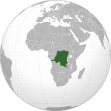alt=Description de l'image Democratic Republic of the Congo (orthographic projection).svg.