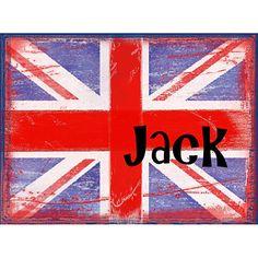 Jack British Flag Stretched Canvas