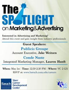 The Spotlight on Marketing and Advertising