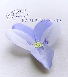 Kell Belle Studio: How to Make a Paper Violet Flower