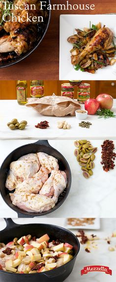 Hints of savory olives combined with the sweetness of baked apples, make this Tuscan Farmhouse Chicken irresistible. For an easy holiday meal or just an elevated chicken dinner, this dish is sure to impress. Find out how!