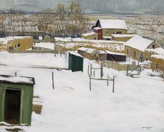 Taos in the Snow by Walter Ufer.