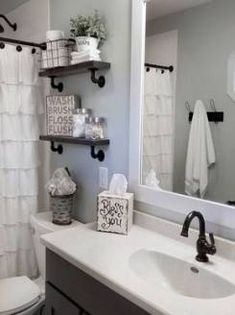 110 spectacular farmhouse bathroom decor ideas renovation home rh pinterest com
