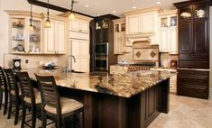 Desert Dream Granite for our counters.....with Jave Cherry Timberlake Cabinets!