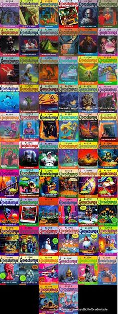 Goosebumps - R.L Stine. When I was little my mom took me to the Waldenbooks bookstore in the mall every month a new one came out (we were on the reserve list). Ha. Good memories.