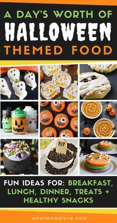 Halloween Themed Food, Childrens Halloween Party, Halloween Food Crafts, Halloween Movie Night, Healthy Halloween, Halloween Desserts, Halloween Birthday, Holidays Halloween, Easy Halloween