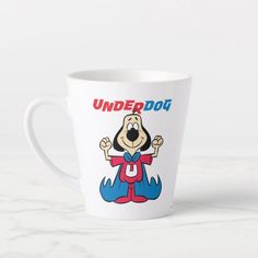 Underdog | Heroic Smile Latte Mug  blue tick hound puppy, maltipoo puppy white, puppy homes #beagle #cats #catdogs, back to school, aesthetic wallpaper, y2k fashion Blue Tick Hound Puppy, Hound Puppies, Beagle Puppies, Beagle Gifts, Dog Gifts, Beagle Funny, Latte Mugs, Maltipoo, Dog Treats