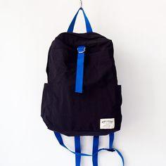 WONDER BAGGAGE ワンダーバゲージ / Relax bag : black × blue リラックス・バッグ ブラック × ブルー - struct