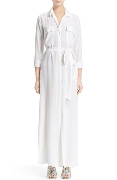 L'AGENCE 'Cameron' Maxi Silk Shirtdress available at #Nordstrom
