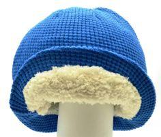 Winter Urban Pipeline Men Women Waffle Beanie Light Blue Headwear Knit 0010