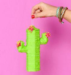 Mini Cactus Piñatas, décorations de fête, Fiesta, Cinco de Mayo, cotillons, soirée à thème mexicain, Bachelorette, anniversaires - lot de 3