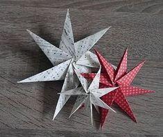 330 besten sterne basteln bilder auf pinterest in 2018 paper ornaments christmas decorations - Stern falten anleitung kindergarten ...