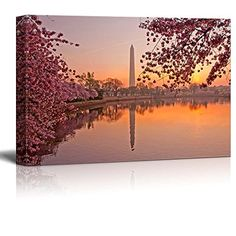 Canvas Prints Wall Art  Cherry Blossom Festival at the National Mall Washington DC  Modern Wall Decor Home Decor Stretched Gallery Wraps Giclee Print  Wood Framed Ready to Hang  24 x 36 -- See this great product.Note:It is affiliate link to Amazon. #twitch