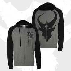 Printed on Independent Trading Co brand lightweight zip-ups. Front and back prints. Great for warmer months.