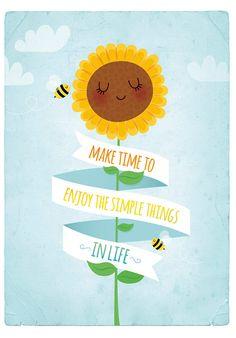Sunflower art print nursery illustration 5x7in by IreneGoughPrints