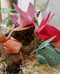 DIY Easter : DIY Origami Spring Bunny Craft