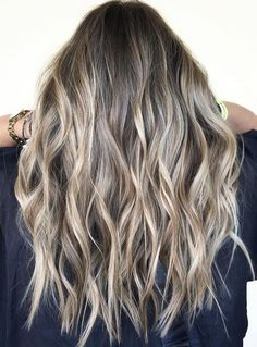 Brown and Blonde Hair Ideas for 2020 ash Blonde Balayage and Silver Ombre Hair Color Ideas 2017 Cute Hair Colors, Hair Colours, Hair Color And Cut, Best Hair Color, Ombre Hair, Wavy Hair, Thin Hair, Straight Hair, Short Hair