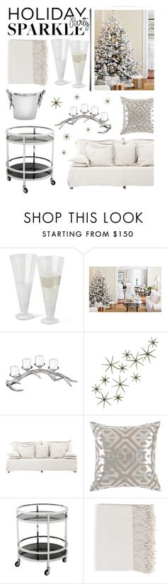 Holiday Decor by kathykuohome on Polyvore featuring interior, interiors, interior design, home, home decor, interior decorating, HolidayParty, whitedecor, holidaydecor and deckthehalls