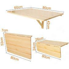 51,34€ - SoBuy Mesa de cocina, mesa de madera, mesa plegable de ...