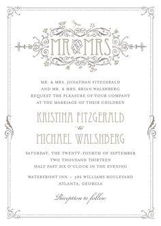 Art Deco wedding invitation (more deco/nouveau instead of extreme deco) @ette31