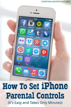 Do you want to keep your kids safe when they are using their iPhone (or yours)? Here is how to set iPhone parental controls. It's easy and only take a few minutes. Here is how to set iPhone parental controls. It's easy and only take a few minutes. Parental Control Apps, Parental Apps For Iphone, Parenting Classes, Kids And Parenting, Parenting Hacks, Foster Parenting, Parenting Articles, Parenting Quotes, Tecnologia