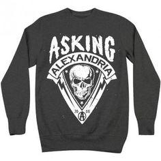Asking Alexandria Men's Sweater Skull Lightning Bolts