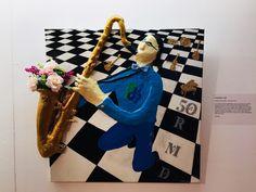 Happy Birthday RMD - Saxophonist 3d   Hier ein Gemälde von mir, das noch bis am 25. August in der Oberen Obere Mühle in Dübendorf zu sehen ist! Happy Birthday, 3d, Simple Paintings, Artworks, Happy Brithday, Urari La Multi Ani, Happy Birthday Funny, Happy B Day, Happy Birth
