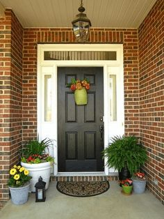 Chandelier for front porch brick wall outside decoration ideas