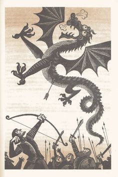 JRR Tolkien's The Hobbit was published in the USSR in with illustrations by M. Gandalf, Legolas, Fantasy Kunst, Fantasy Art, Demon Dragon, Red Dragon, Dragon Art, Dragons, J. R. R. Tolkien