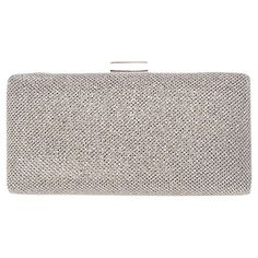 Buy Miss KG Olivia Clutch Bag, Silver from our Handbags, Bags & Purses range at John Lewis & Partners. Silver Purses, Miss Kg, Silver Clutch, Clutch Bag, Purses And Bags, Evening Clutches, Polyvore, Handbags, Stuff To Buy