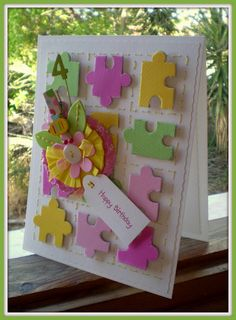 lovely puzzle card