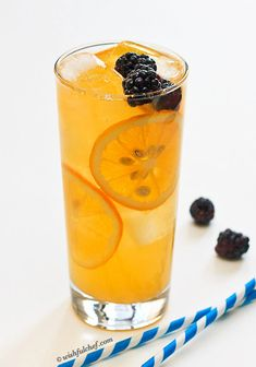 Meyer Lemonade sweetened with Maple Syrup