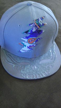 Hand Painted and Patchwork Grateful Dead 13 Point Bolt Custom Hat 9bec050f83f