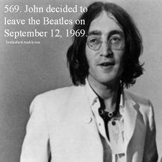 :( Sad Beatles Fact. When John left the Beatles